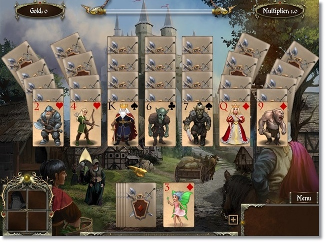 Legends of Solitaire - Curse of the Dragons Deluxe - Imagem 1 do software