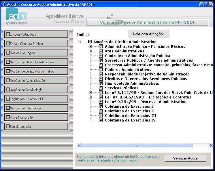 Apostila do Concurso Agente Administrativo Polícia Rodoviária Federal - Imagem 2 do software
