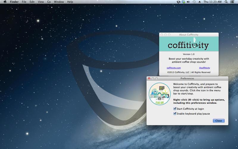 Coffitivity - Imagem 1 do software