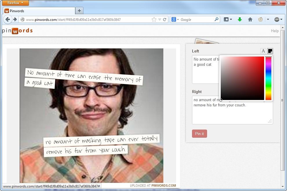 Pinwords - Imagem 2 do software