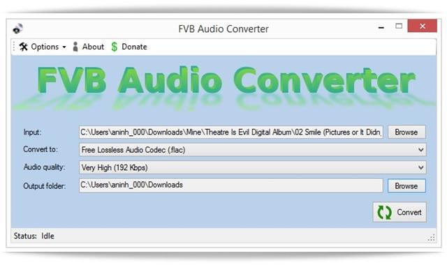 FVB Audio Converter - Imagem 1 do software