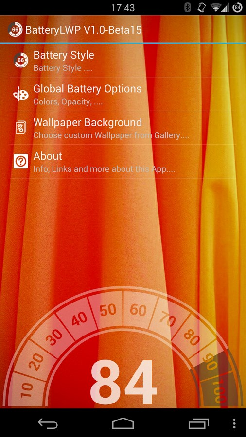 Battery LiveWallpaper - Imagem 2 do software