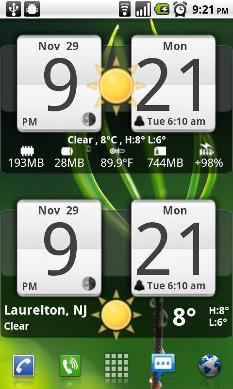 Sense Analog Clock Widget 24 - Imagem 1 do software