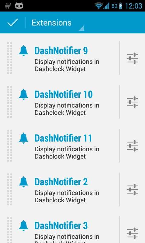 DashNotifier for DashClock - Imagem 1 do software