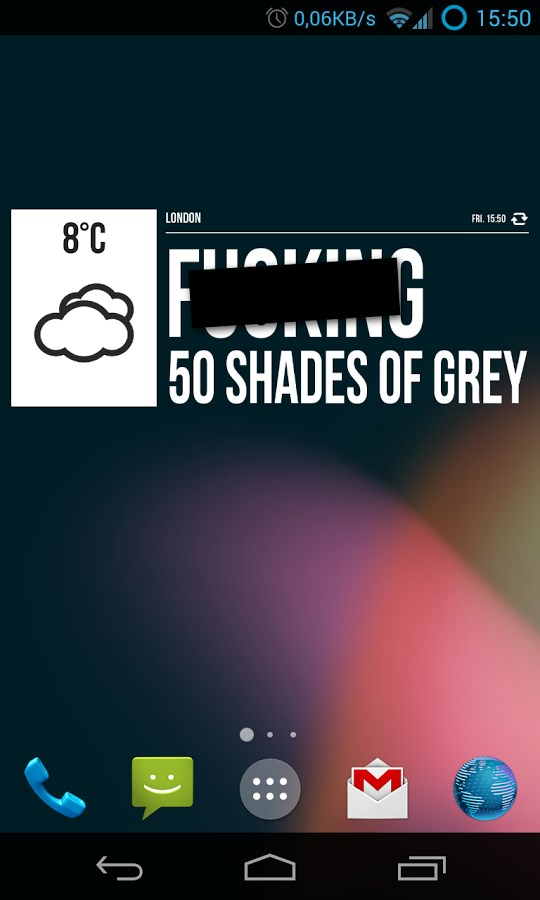 Grumpy Weather Widget - Imagem 1 do software