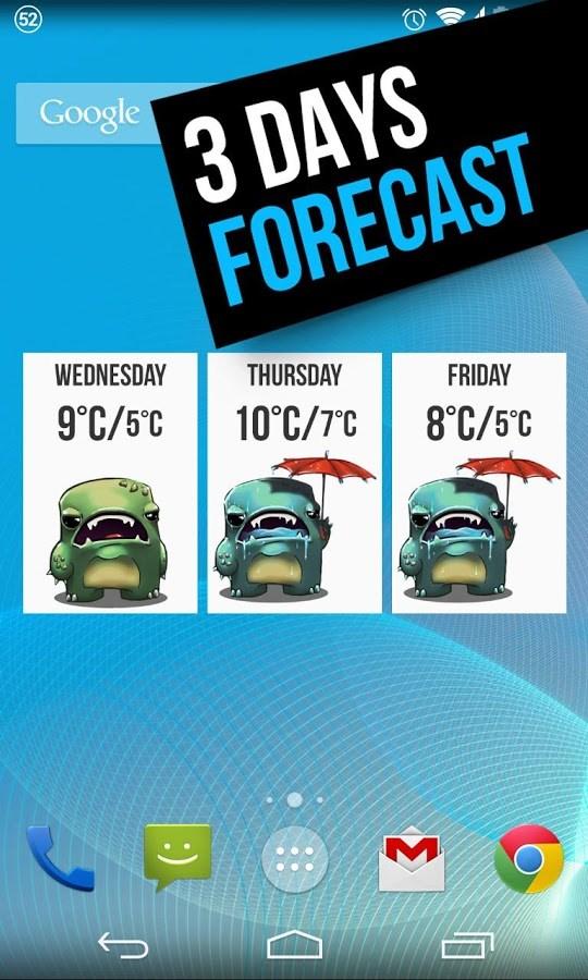 Grumpy Weather Widget - Imagem 2 do software