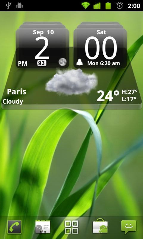 MIUI Dark Digital Weather CL. - Imagem 1 do software