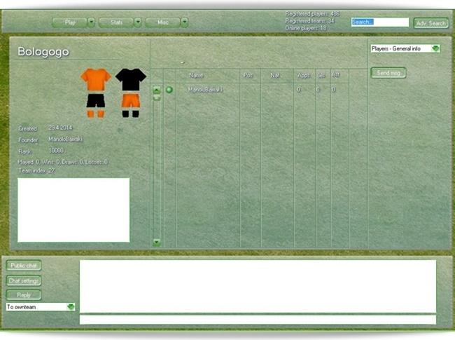 Netsoccer2 - Imagem 2 do software