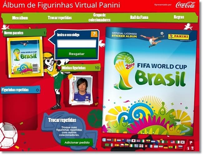 Álbum de Figurinhas Virtual Panini.