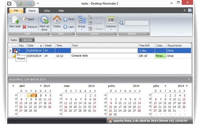 Polenter Desktop Reminder - Imagem 1 do software