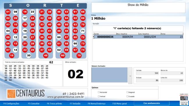 programa de sorteio de bingo