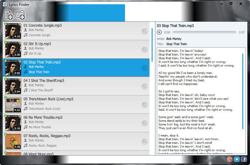 Lyrics Finder - Imagem 1 do software