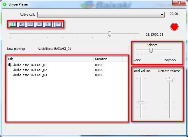 Skype Audio Player - Imagem 2 do software
