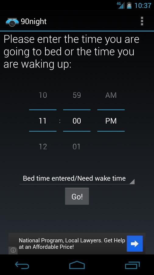 90night: SleepyTime Calculator - Imagem 1 do software