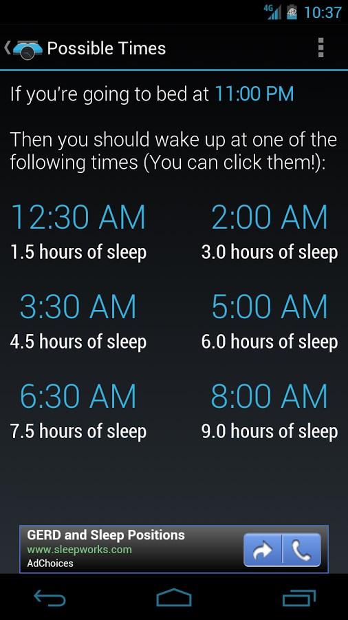 90night: SleepyTime Calculator - Imagem 2 do software