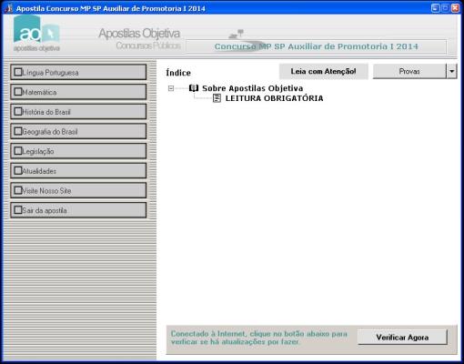 Apostila do Concurso MP SP Auxiliar de Promotoria - Imagem 1 do software