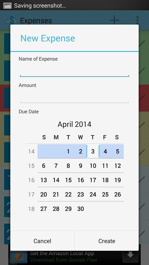 Expense Reminder - Imagem 2 do software