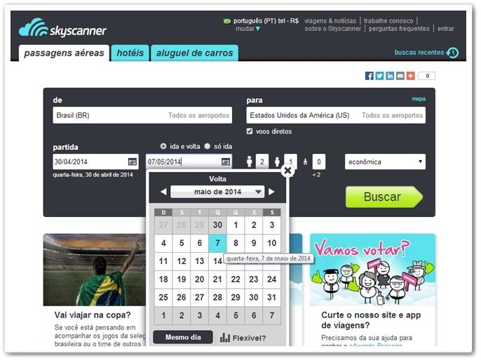 Skyscanner Online - Imagem 1 do software