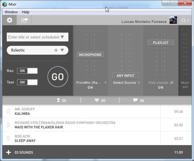 Mixlr - Imagem 1 do software