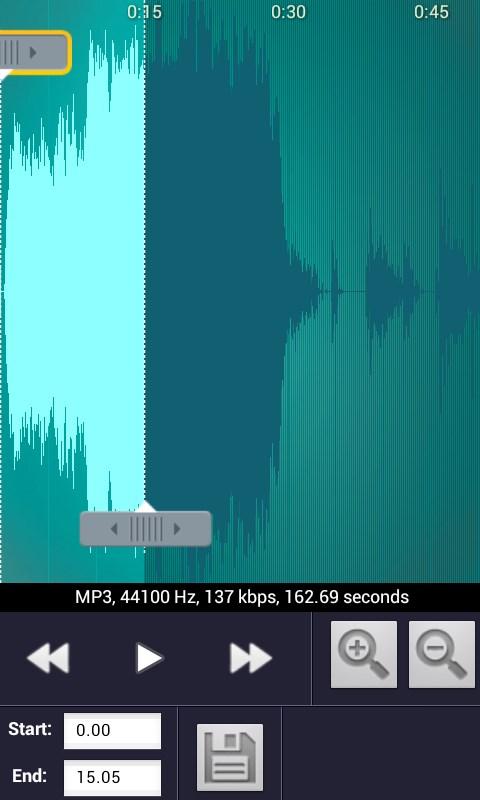 MP3 Cutter & Ringtone Maker - Imagem 2 do software