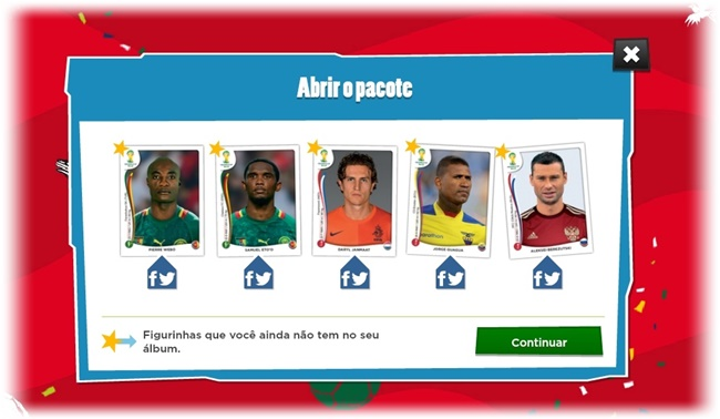 Álbum de Figurinhas Virtual Panini Copa do Mundo 2014 - Imagem 2 do software