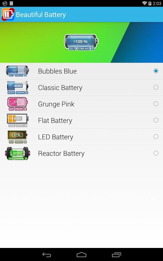 Beautiful Battery Widget - Imagem 1 do software