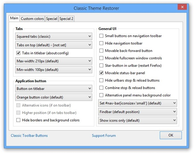 Classic Theme Restorer (Customize Australis) Download to
