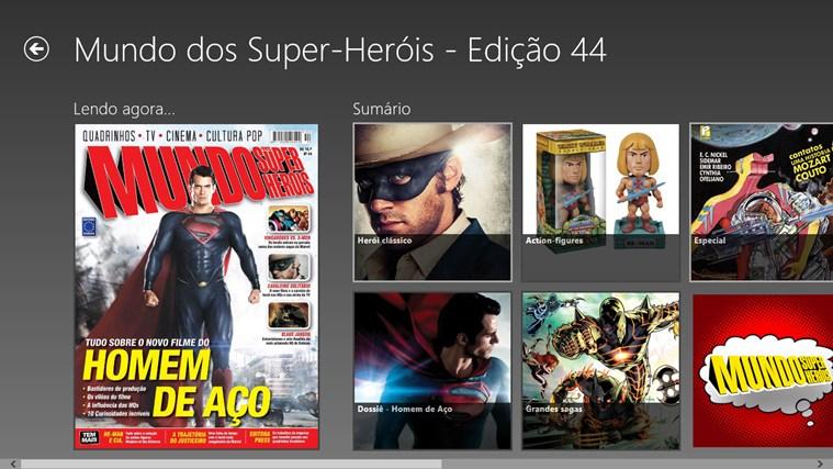 Revista Mundo dos Super-Heróis - Imagem 1 do software