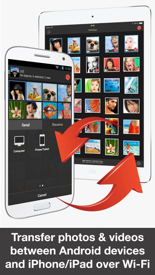 PhotoSync - Imagem 2 do software