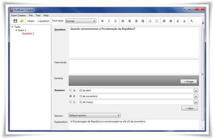 ProfExam Creator - Imagem 1 do software