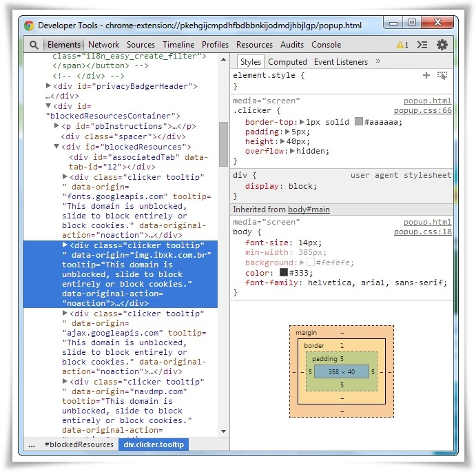 Privacy Badger - Imagem 2 do software