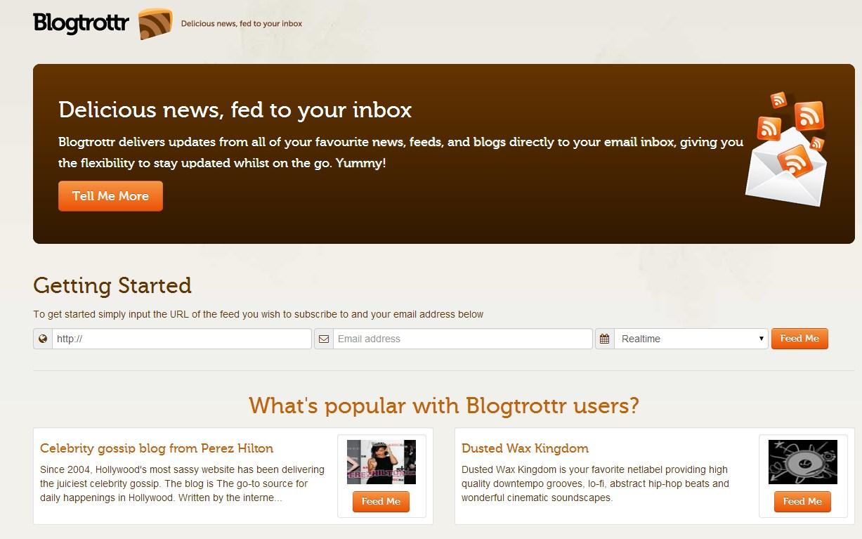 Blogtrottr - Imagem 1 do software