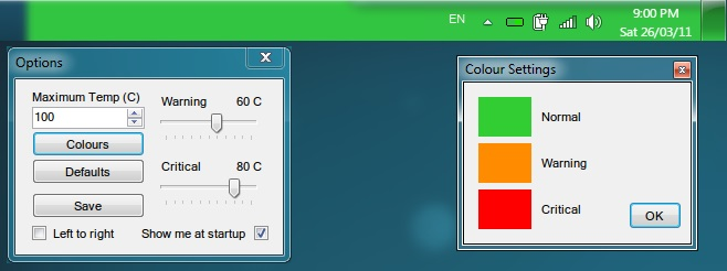 Temperature Taskbar - Imagem 1 do software