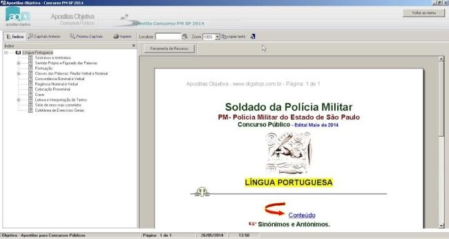 Apostila Concurso Soldado PM SP 2014 - Imagem 1 do software