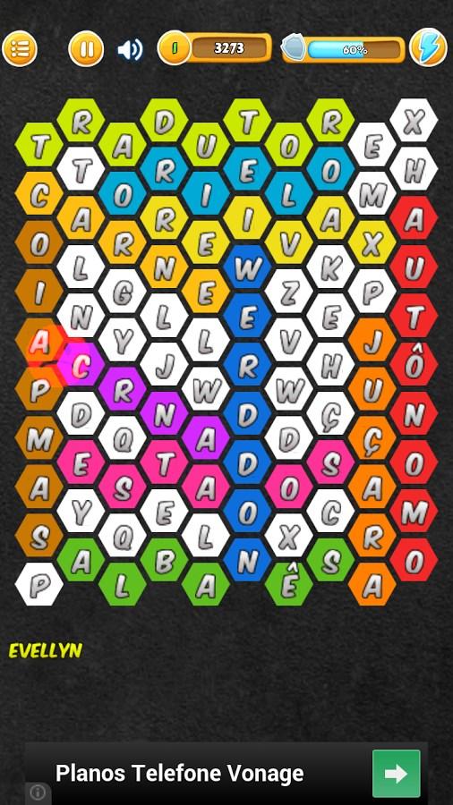 Caça Palavras Hexagonal - Imagem 2 do software