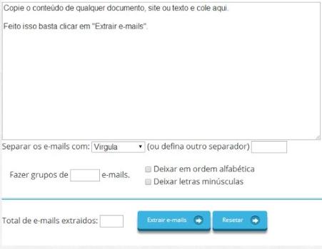 Extrator de E-mails Finalizart - Imagem 1 do software