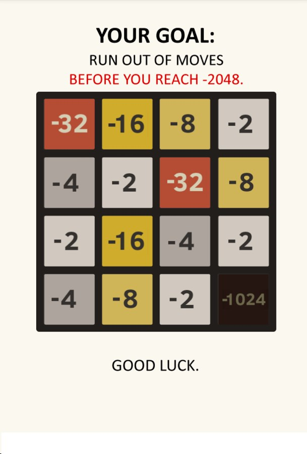 Negative 2048 - Imagem 2 do software