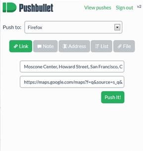 PushBullet para Firefox - Imagem 1 do software