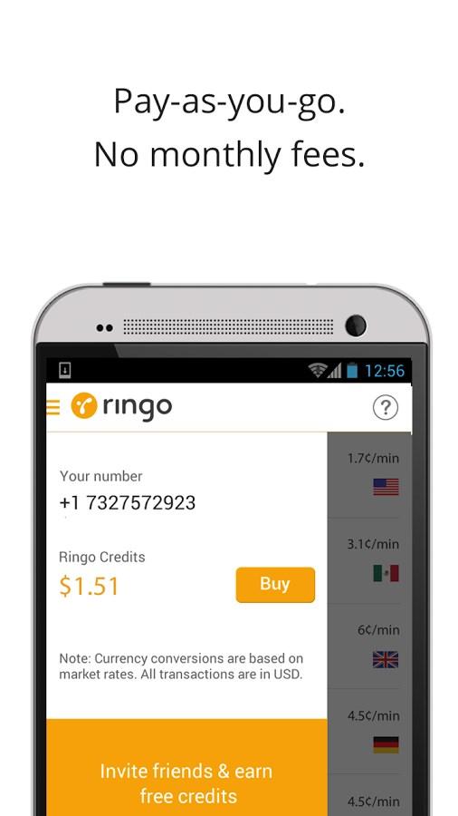 Ringo: International Calling - Imagem 2 do software