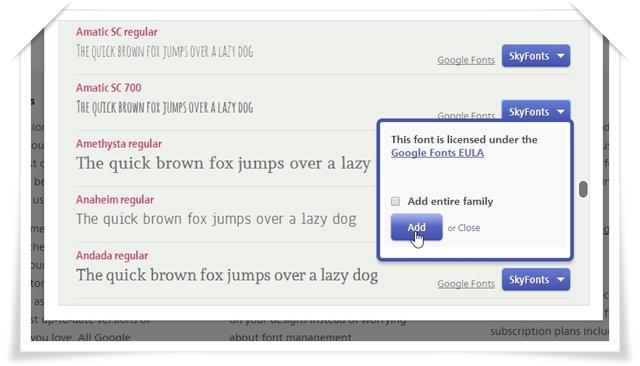 SkyFonts (Fonts.com) - Imagem 1 do software