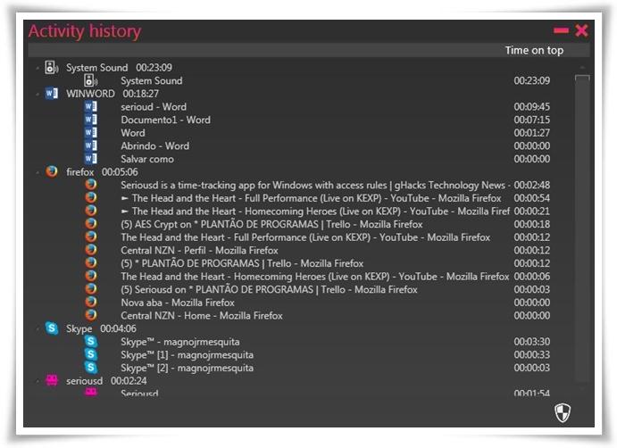 Seriousd - Imagem 2 do software