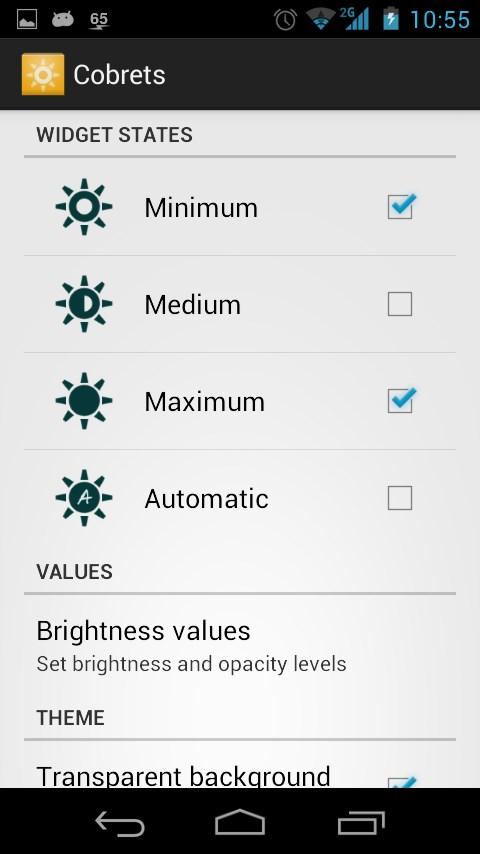 Configurable brightness preset - Imagem 1 do software