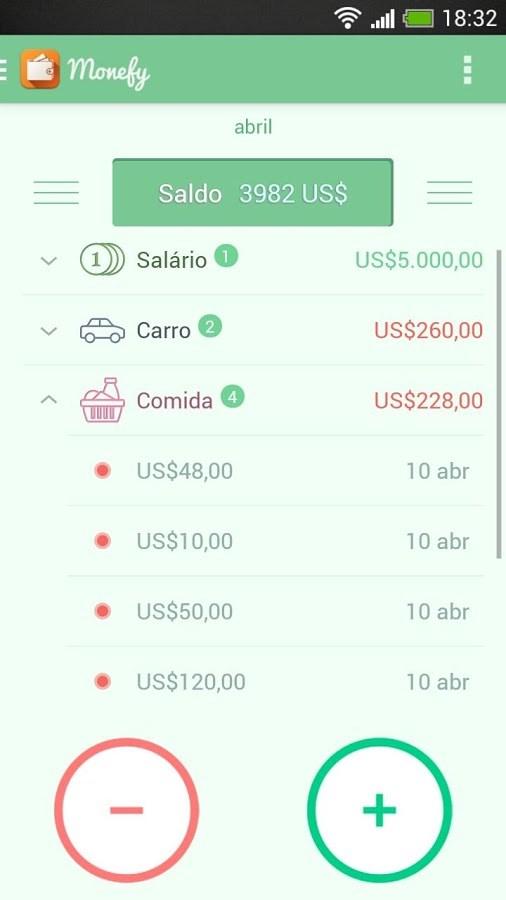 Monefy Expense Manager - Imagem 2 do software