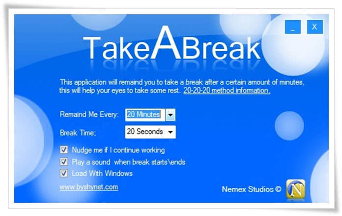 TakeABreak - Imagem 1 do software