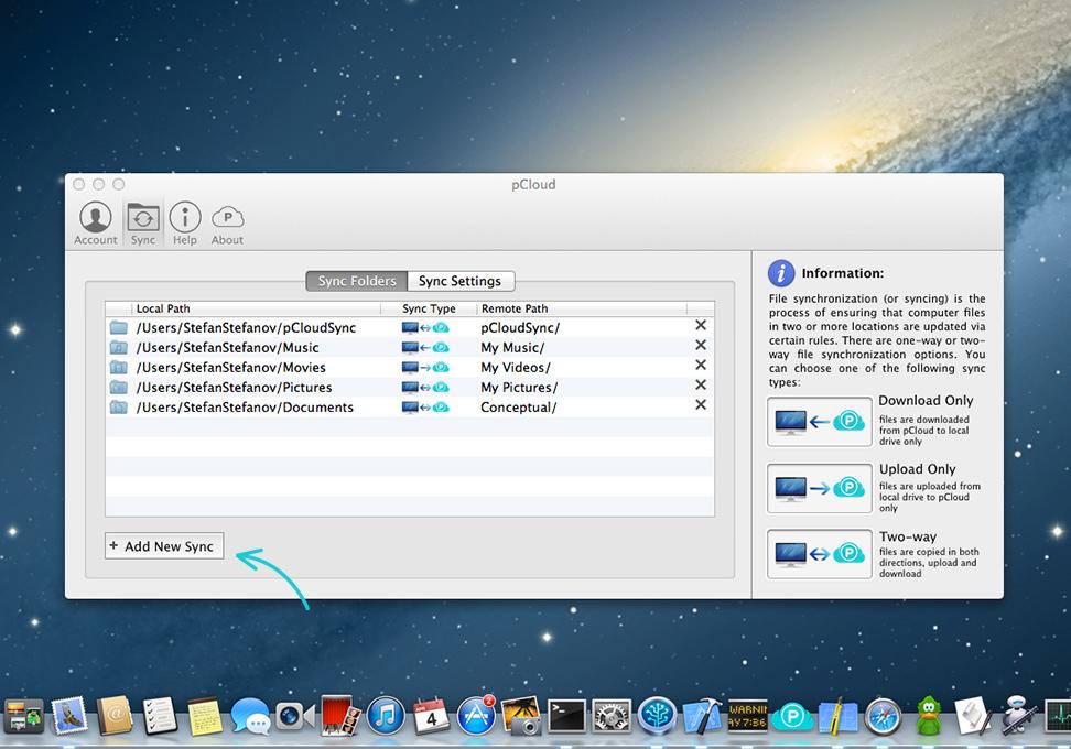 pCloud para Mac - Imagem 1 do software