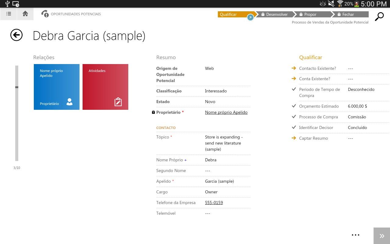 Dynamics CRM for tablets - Imagem 1 do software