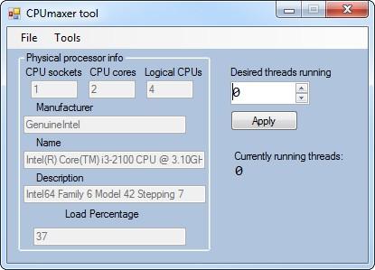 CPUmaxer Tool - Imagem 1 do software
