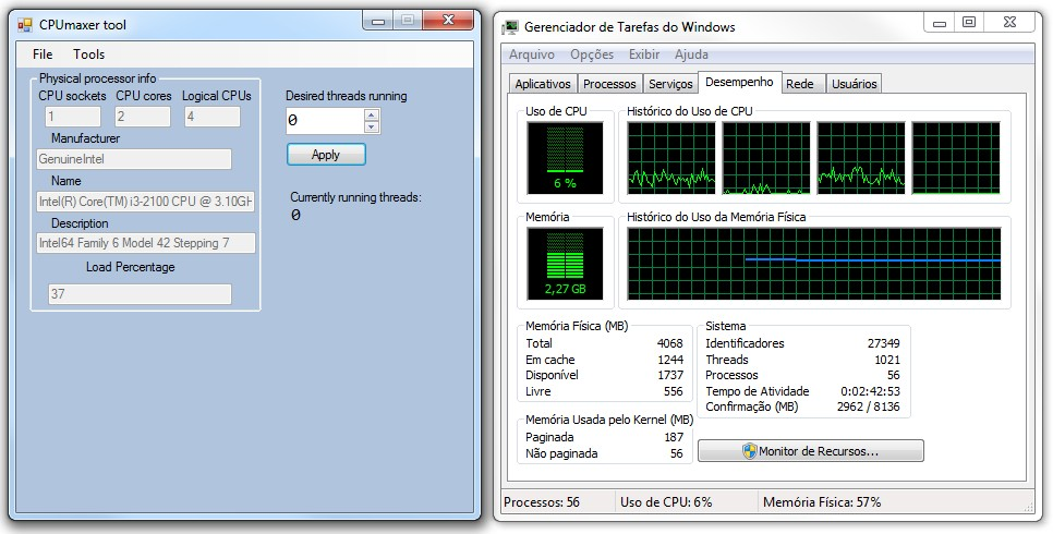 CPUmaxer Tool - Imagem 3 do software