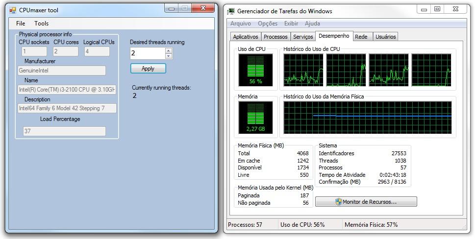 CPUmaxer Tool - Imagem 4 do software