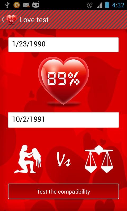 Love calculator - Imagem 2 do software